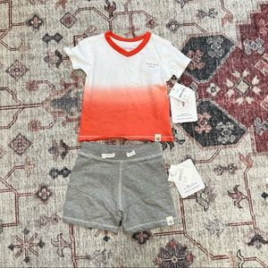 Burt's Bees Baby boy 2 piece outfit